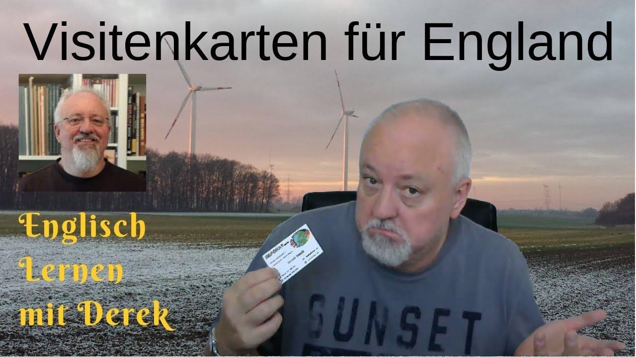 Visitenkarten Für England Englisch Lernen Mit Derek