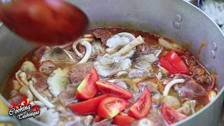Cooking Technique: Amazing Frog Tom Yum Soup Recipe In My Village