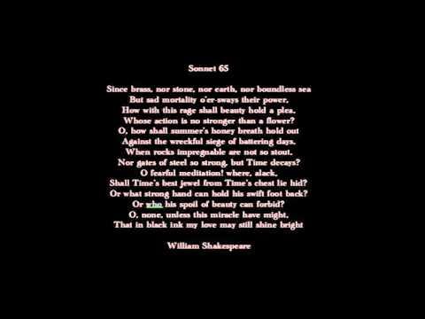 shakespeare sonnet 65 analysis