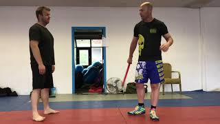 Defending Stick Attacks, part 1 overhand & swing from the side. With Amnon Darsa, Expert Camp IKMN.