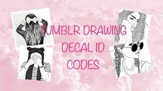 TUMBLR DRAWING DECAL ID CODES 🖼⎮ROBLOX BLOXBURG