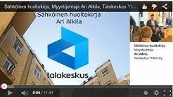 Sähköinen huoltokirja, myyntijohtaja Ari Alkila, Talokeskus Yhtiöt Oy