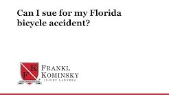 Can I sue for my Florida bicycle accident?
