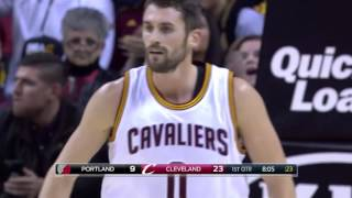 Kevin Love ON FIRE 34 Points in 1st Quarter | 11.23.16