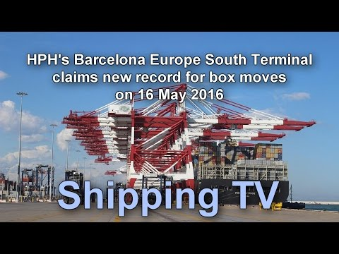Barcelona Europe South Terminal claims new box move record.