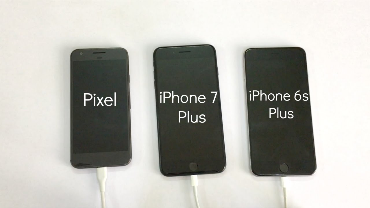 quality design b7f0e c938f SHOCKING RESULTS!!! Google Pixel vs iPhone 7 Plus vs iPhone 6s Plus  Charging Speed Test #ChargeGate