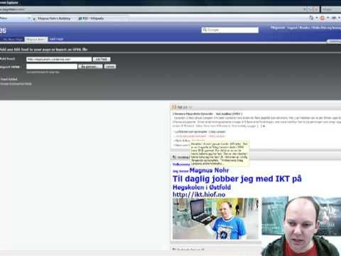 Opprett en RSS-feed i Pageflakes