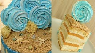 Торт с Абрикосовым Курдом ✧ Цветные Шоколадные Подтёки ✧ Морской Торт