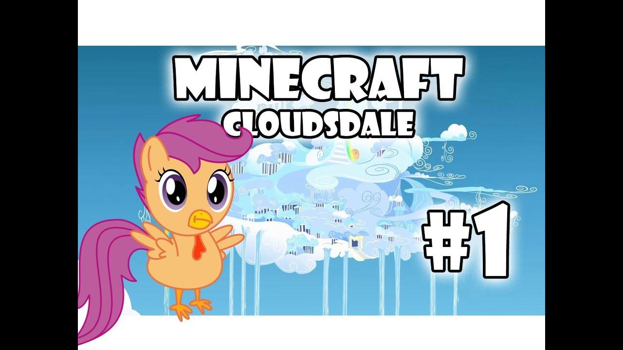 minecraft my little pony adventures cloudsdale part 1 scootaloo