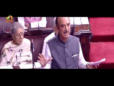 Ghulam Nabi Azad Slams Taslima Nasreen | Rajya Sabha | Parliament Monsoon Sessions | Mango News