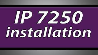 Canon Pixma IP7250 printer installation