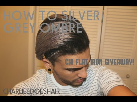 HOW TO SILVER/GREY HAIR  PLUS CHI IRON GIVE AWAY