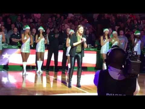 Ayla Brown National Anthem Celtics Game