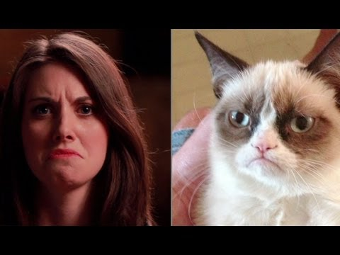 Community's Alison Brie Perfectly Imitates Grumpy Cat and Other Memes, Attempts Unsexy GIF