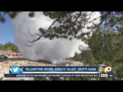Yellowstone Geyser Erupted