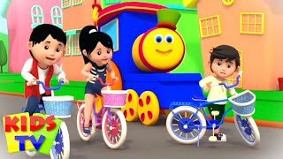 Lets Ride A Bicycle | Riding A Bike Song | bob the train | Safety Song