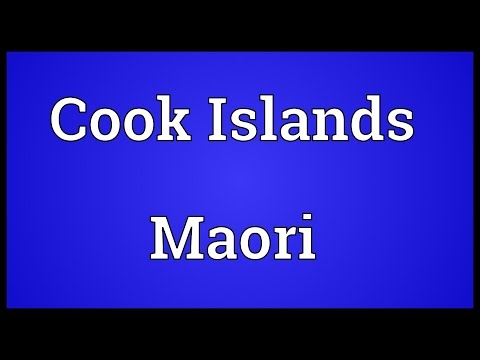 Cook Islands Maori Meaning