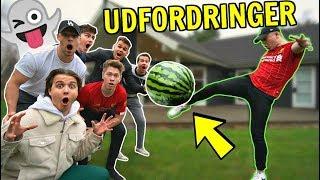 Fodbold med VANDMELON!! (Snapchat Udfordringer) ft. Gutterne