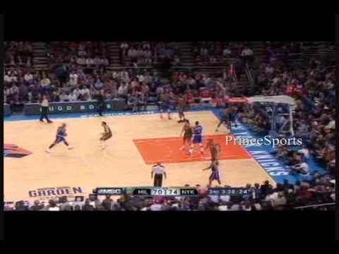 Carmelo Anthony Makes NYC Debut -(Knicks/Bucks Clips)