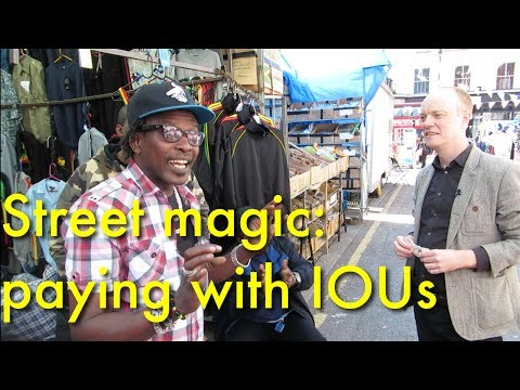 Paying with blank paper at Brixton Market | Street Magic
