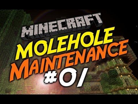 LET'S PLAY MINECRAFT - MOLEHOLE MAINTENANCE #1