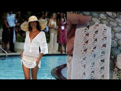 Как связать платье пляжное крючком