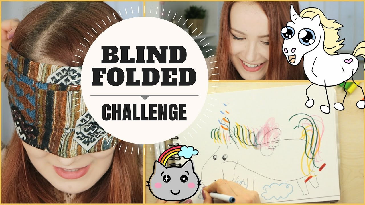 Art Challenge Blindfolded Drawing Challenge Let S Draw A Unicorn