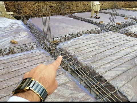 Why Plastic Provide in Raft Foundation for Building? Civil Engineering Site Construction site Video