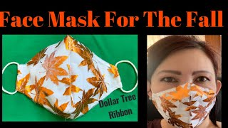 171 How To Make Beautiful Fall Face Mask With Nose Bridge Filter Pocket The Dollar Tree DIY