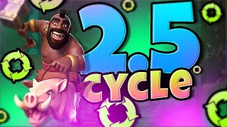 2.5 HOG CYCLE DECK in CLASH ROYALE