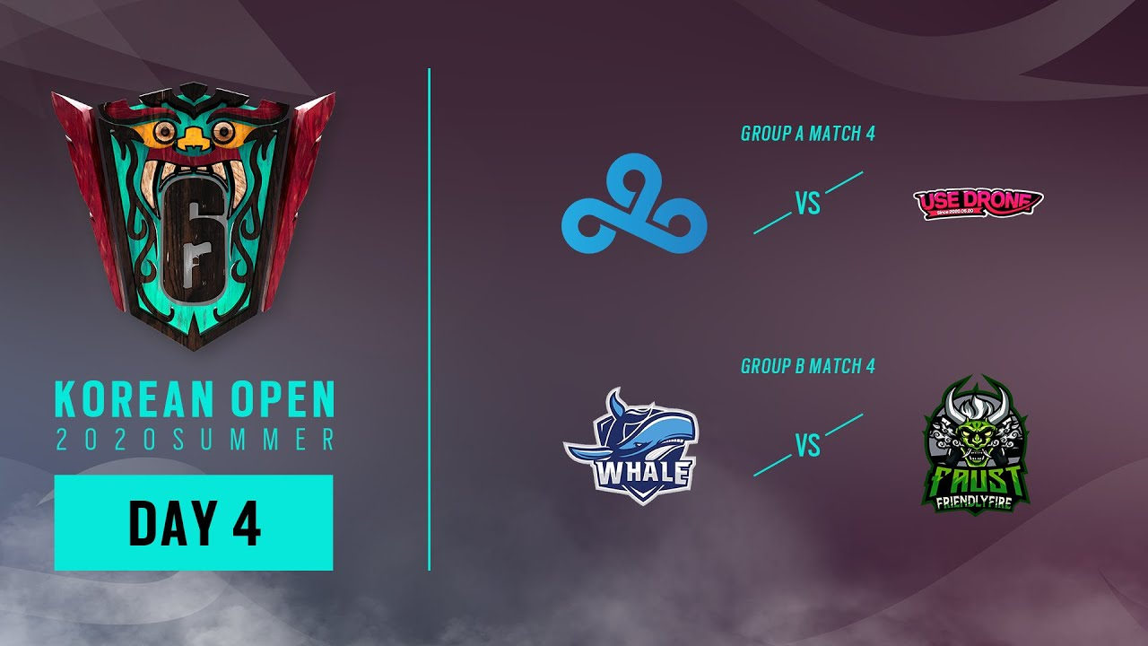KOREAN OPEN 2020 SUMMER DAY 4 : CLOUD 9 vs Use Drone // WHALE vs FAUST