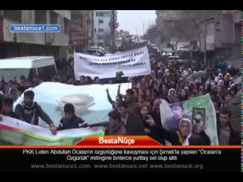 Şırnak'ta Öcalan'a Özgürlük mitingine binlerce yurttaş sel olup aktı