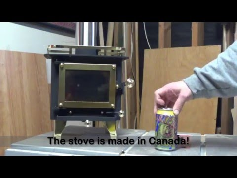 Cubic Mini Wood Stove Unboxing & First Fire