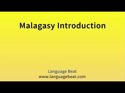 Learn Malagasy : Lessons 0-14 for Beginners