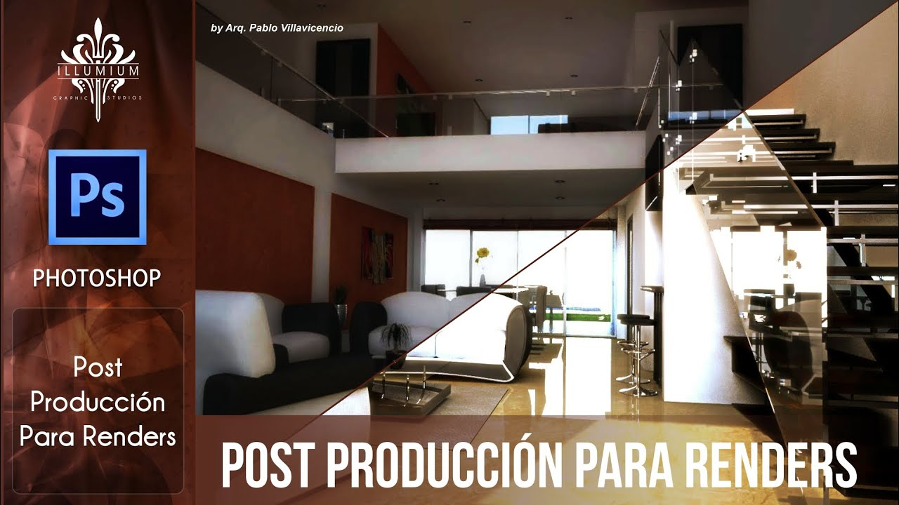 Post Produccin para Renders con Photoshop  YouTube