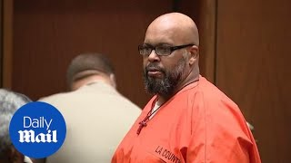Suge Knight gives a 'death stare' after 28 year prison sentence