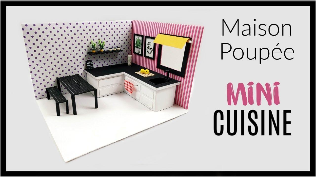 Diy Miniature Maison Poupee Cuisine Kitchen Miniature Doll House