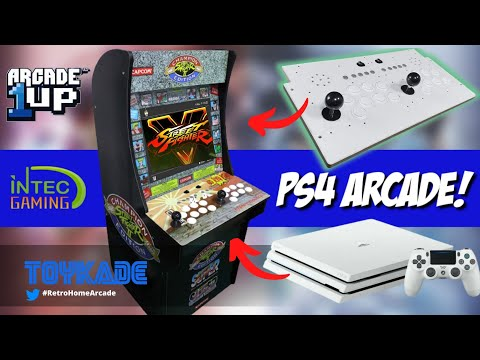 PS4 Arcade1Up Machine! Play your Playstation 4 on the Arcade1up using IntecGaming Fight Stick! from ToyKade