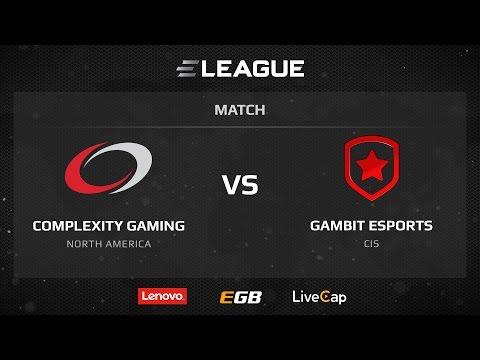 Complexity vs Gambit, map 1 cache, ELEAGUE Season 1