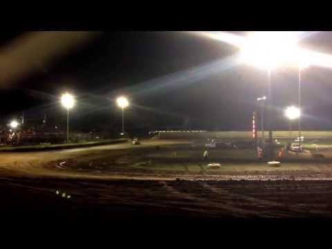 Creek County Speedway Oklahoma 5-22-15 Champ Sprints heat #2