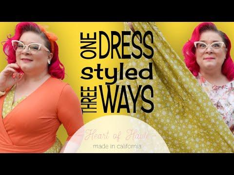 $100 CHALLENGE - Heart of Haute - Retro Dress Try On - Vintage Inspired Haul