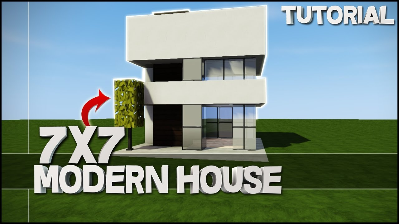Minecraft house tutorial 7x7 modern house best house tutorial youtube