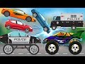 Good VS Evil Police Car | Scary Monster Truck Cartoons for Children | Police Car Cartoon for Kids