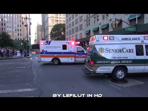 [AMBULANCE SPERRT WEG FREI] Ambulance Senior Care + Ambulance NY Presbyterian [NYC]