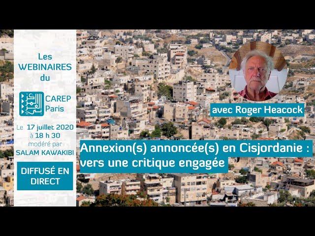 Webinaire 9 : Annexion(s) annoncée(s) en Cisjordanie : vers une critique engagée