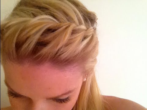 Summer Hair Tutorial Quick Braided Bangs Youtube