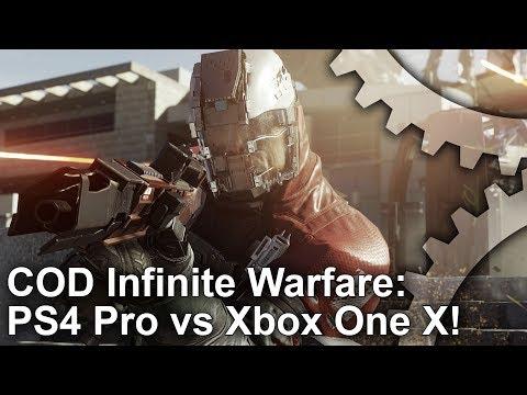 [4K] Call of Duty Infinite Warfare: Xbox One X vs PS4 Pro Graphics Comparison + Frame-Rate Test