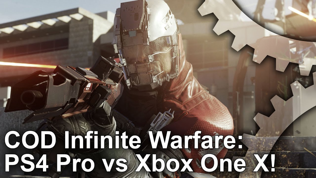 [4K] Call of Duty Infinite Warfare Xbox One X vs PS4 Pro Graphics  Comparison + Frame,Rate Test