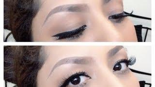 Tips memakai Eyeliner/ Bulu Mata palsu / update cara membentuk alis ( Indonesia subtitle )