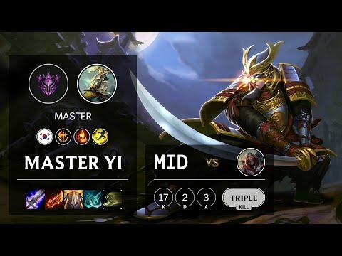 Master Yi Mid Vs Zed - KR Master Patch 10.16